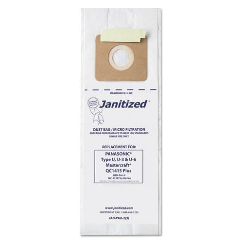 Janitized Vacuum Filter Bags Designed To Fit Panasonic Upright Type U, 36-ct-Janitized®-Omni Supply