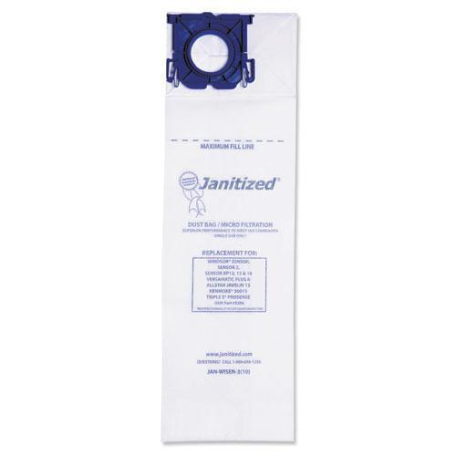 Janitized VACUUM FILTER BAGS DESIGNED TO FIT WINDSOR SENSOR S-S2-XP-VERSAMATIC PLUS, 100CT-Janitized®-Omni Supply