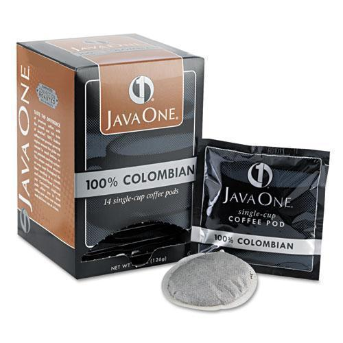 Java One Coffee Pods, Colombian Supremo, Single Cup, 14-box-Java One®-Omni Supply