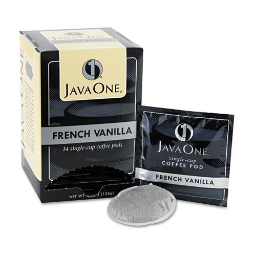 Java One Coffee Pods, French Vanilla, Single Cup, 14-box