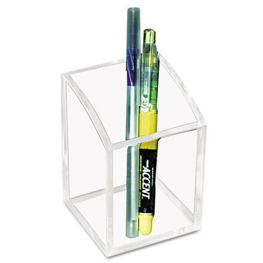 Kantek Acrylic Pencil Cup, 2 3-4 X 2 3-4 X 4, Clear-Kantek-Omni Supply