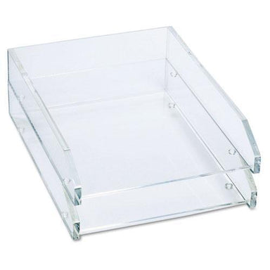 Kantek Double Letter Tray, Two Tier, Acrylic, Clear-Kantek-Omni Supply
