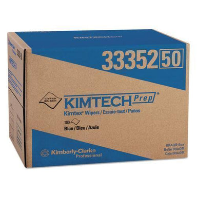 Kimtech KIMTEX WIPERS, BRAG BOX, 12.1 X 16.8, BLUE, 180-BOX-Kimtech™-Omni Supply