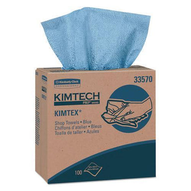 Kimtech Kimtex Wipers, Pop-Up Box, 8 4-5 X 16 4-5, Blue, 100-box, 5-carton-Kimtech™-Omni Supply