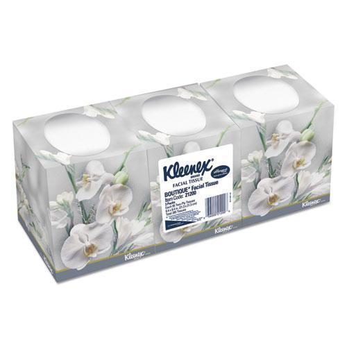 Kleenex BOUTIQUE WHITE FACIAL TISSUE, 2-PLY, POP-UP BOX, 3 BOXES-PACK, 12 PACKS-CARTON-Kleenex®-Omni Supply