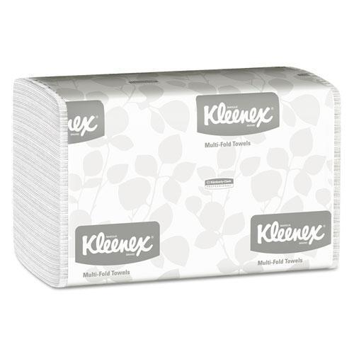 Kleenex Multi-Fold Paper Towels, 9 1-5 X 9 2-5, White, 150-pack, 16 Packs-carton-Kleenex®-Omni Supply