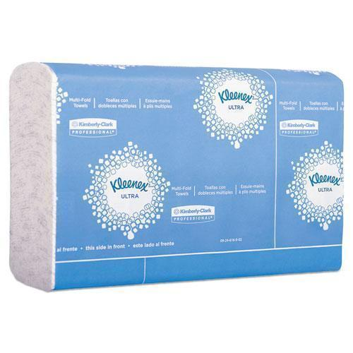 Kleenex Reveal Multi-Fold Towels, 2-Ply, 8 X 9.4, White, 16-carton-Kleenex®-Omni Supply