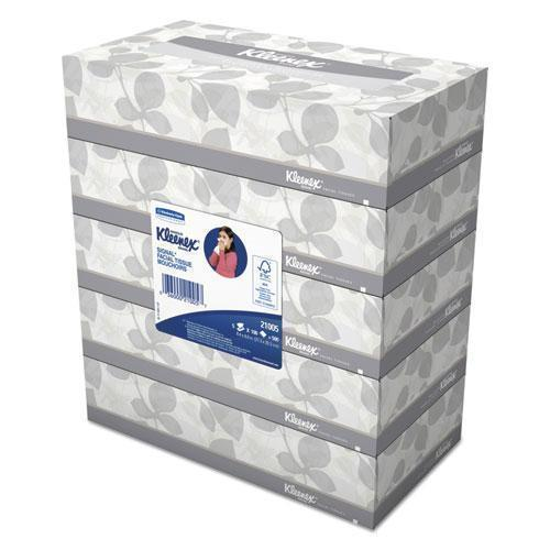 Kleenex White Facial Tissue, 2-Ply, 100 Tissues-box, 5 Boxes-pack, 6 Packs-carton-Kleenex®-Omni Supply