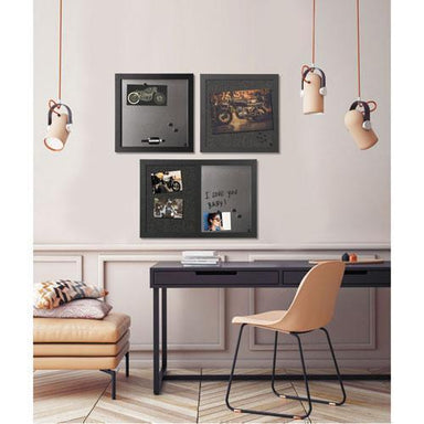 MasterVisi Black Shadow Message Board Set, Assorted Sizes & Colors, 3-set-MasterVision®-Omni Supply