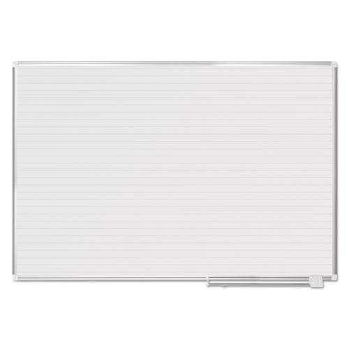 MasterVisi Ruled Planning Board, 72 X 48, White-silver-MasterVision®-Omni Supply
