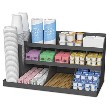 MindReader Extra Large Coffee Condiment And Accessory Organizer,24 X 11 4-5 X 12 1-2, Black-Mind Reader-Omni Supply