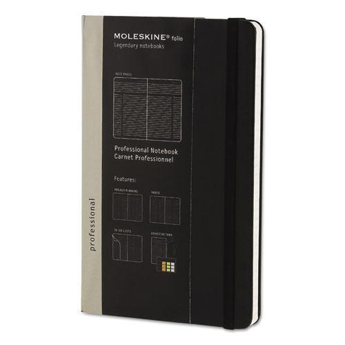 Moleskine Professional Notebook, Ruled, 8 1-4 X 5, Black Cover, 240 Sheets-Moleskine®-Omni Supply