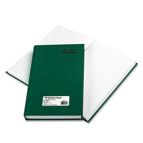 Nat'lBrand Emerald Series Account Book, Green Cover, 500 Pages, 12 1-4 X 7 1-4-National®-Omni Supply