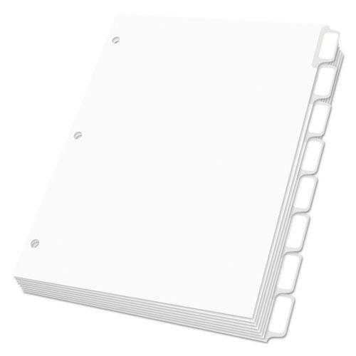 Oxford Custom Label Dividers, Self-Stick Tab Labels, 8-Tab, Letter, White, 5 Sets-Oxford™-Omni Supply