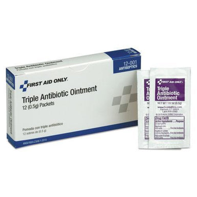 PhysicFAO First Aid Kit Refill Triple Antibiotic Ointment, 12-box-PhysiciansCare® by First Aid Only®-Omni Supply