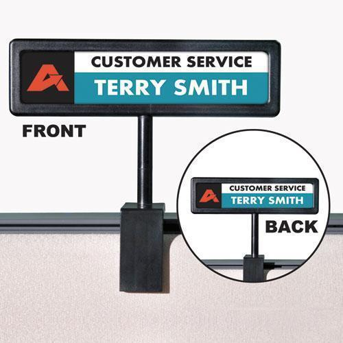 PPLPOINTER People Pointer Cubicle Sign, Plastic, 9 X 2 1-2, Black-People Pointer™-Omni Supply