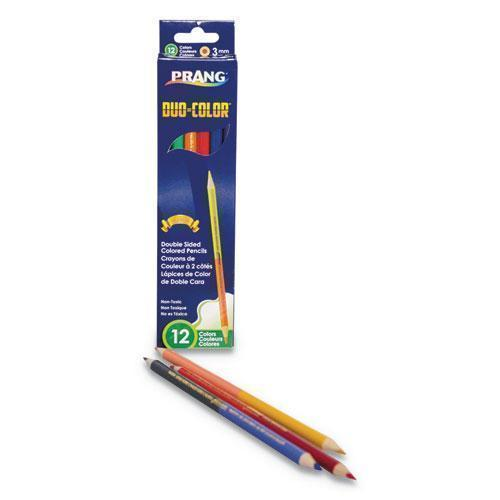 Prang DUO-COLOR COLORED PENCIL SETS, 3 MM, 12 ASSORTED LEAD, 6-PACK-Prang®-Omni Supply