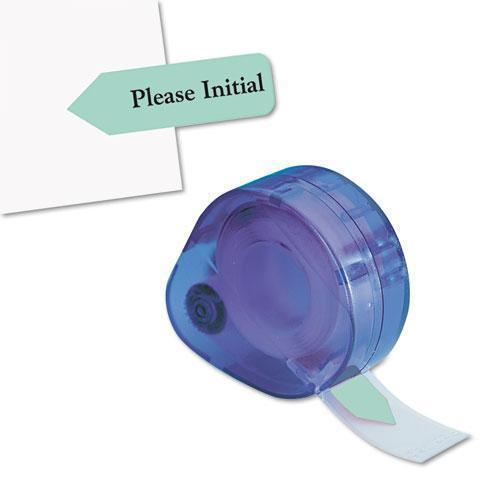 "Redi-Tag Arrow Message Page Flags In Dispenser, ""please Initial"", Mint, 120-dispenser-Redi-Tag®-Omni Supply"