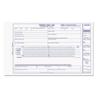Rediform Driver's Daily Log, 8 3-4 X 5 3-8, Carbonless Duplicate, 31 Sets-book-Rediform®-Omni Supply
