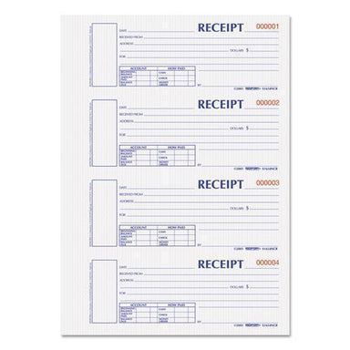 Rediform Hardcover Numbered Money Receipt Book, 6 7-8 X 2 3-4, Two-Part, 300 Forms-Rediform®-Omni Supply