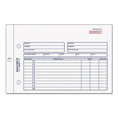 Rediform Invoice Book, 5 1-2 X 7 7-8, Carbonless Duplicate, 50 Sets-book-Rediform®-Omni Supply