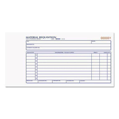 Rediform Material Requisition Book, 7 7-8 X 4 1-4, Two-Part Carbonless, 50-Set Book-Rediform®-Omni Supply