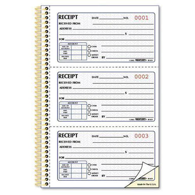 Rediform Money Receipt Book, 5 X 2 3-4, Two-Part Carbonless, 225 Sets-book-Rediform®-Omni Supply