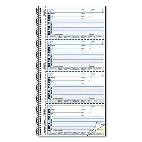 Rediform Self-Stick Telephone Message Book, 5 1-2 X 2 3-4, Two-Part, 400 Sets-book-Rediform®-Omni Supply