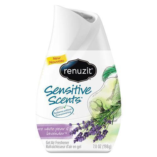 Renuzit ADJUSTABLES AIR FRESHENER, PURE WHITE PEAR AND LAVENDER, 7 OZ CONE-Renuzit®-Omni Supply