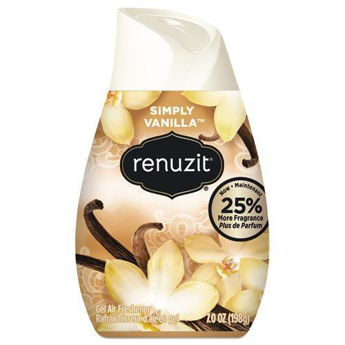 Renuzit ADJUSTABLES AIR FRESHENER, VANILLA, APRICOT BLOSSOM & ALMOND, SOLID, 7 OZ, 12-CT-Renuzit®-Omni Supply