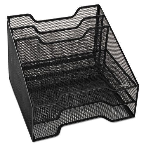 Rolodex Combination Sorter, Five Sections, Mesh, 12 1-2 X 11 1-2 X 9 1-2, Black-Rolodex™-Omni Supply