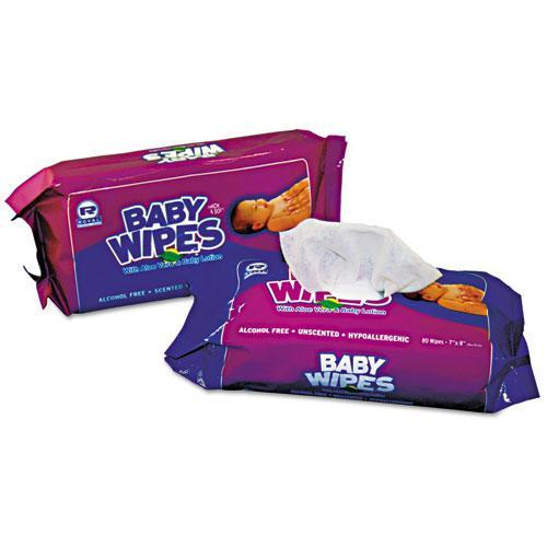 Royal Baby Wipes Refill Pack, White, 80-pack, 12 Packs-carton-Royal-Omni Supply
