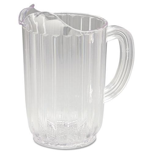 Rubbermaid Bouncer Plastic Pitcher, 32oz, Clear-Rubbermaid® Commercial-Omni Supply