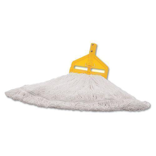 Rubbermaid Finish Mop Heads, Nylon, White, Large-Rubbermaid® Commercial-Omni Supply