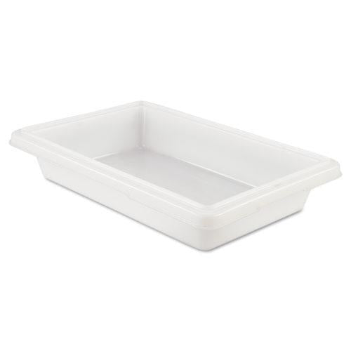 Rubbermaid Food-tote Boxes, 2gal, 18w X 12d X 3 1-2h, White-Rubbermaid® Commercial-Omni Supply