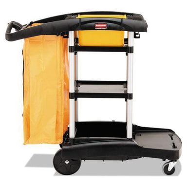 Rubbermaid High Capacity Cleaning Cart, 21-3-4w X 49-3-4d X 38-3-8h, Black-Rubbermaid® Commercial-Omni Supply