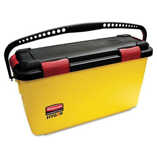 Rubbermaid Hygen Charging Bucket, Yellow-Rubbermaid® Commercial HYGEN™-Omni Supply