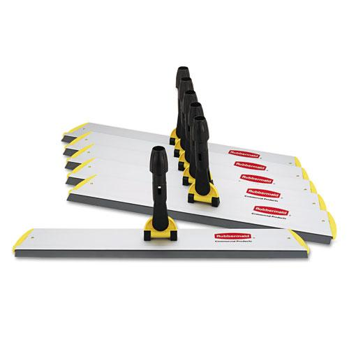 Rubbermaid Hygen Quick Connect S-S Frame, Squeegee, 24w X 4 1-2d, Aluminum, Yellow-Rubbermaid® Commercial HYGEN™-Omni Supply