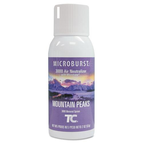 Rubbermaid Microburst 3000 Refill, Mountain Peaks, 2oz, Aerosol, 12-carton-Rubbermaid® Commercial-Omni Supply