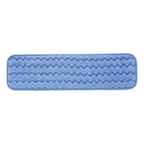 "Rubbermaid Microfiber Wet Room Pad, Split Nylon-polyester Blend, 18"", Blue, 12-carton-Rubbermaid® Commercial-Omni Supply"