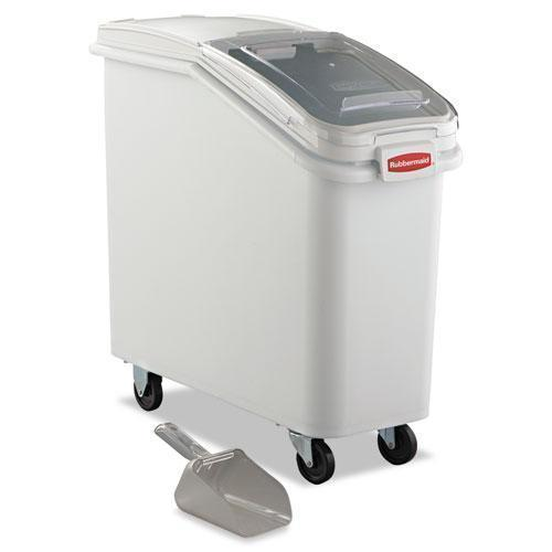 Rubbermaid Prosave Mobile Ingredient Bin, 20.57gal, 13 1-8w X 29 1-4d X 28h, White-Rubbermaid® Commercial-Omni Supply