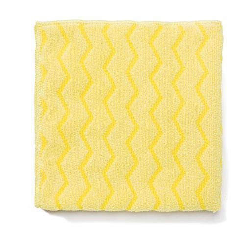 Rubbermaid Reusable Cleaning Cloths, Microfiber, 16 X 16, Yellow, 12-carton-Rubbermaid® Commercial-Omni Supply
