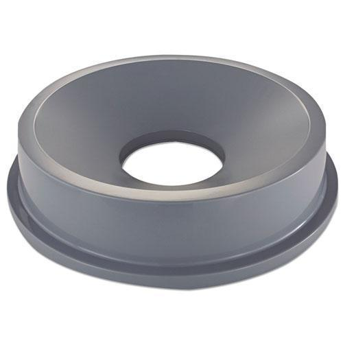 Rubbermaid Round Brute Funnel Top Receptacle, 22 3-8 X 5, Gray-Rubbermaid® Commercial-Omni Supply