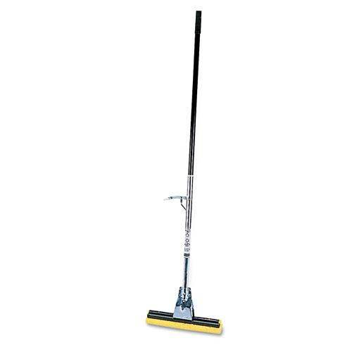 "Rubbermaid Steel Roller Sponge Mop, Bronze Handle W-12"" Wide Yellow Sponge-Rubbermaid® Commercial-Omni Supply"