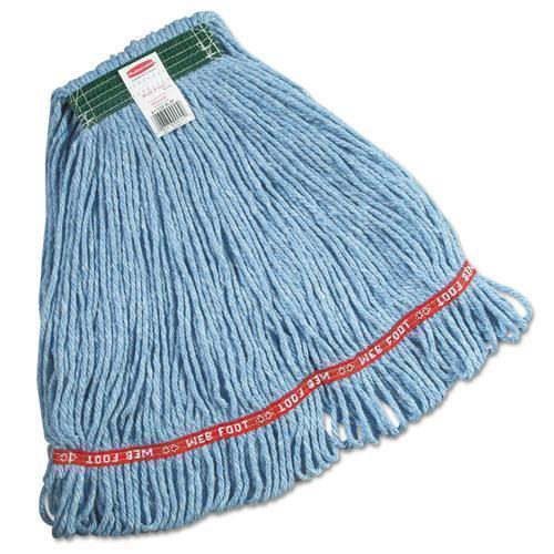 Rubbermaid Swinger Loop Wet Mop Heads, Cotton-synthetic, Blue, Medium-Rubbermaid® Commercial-Omni Supply