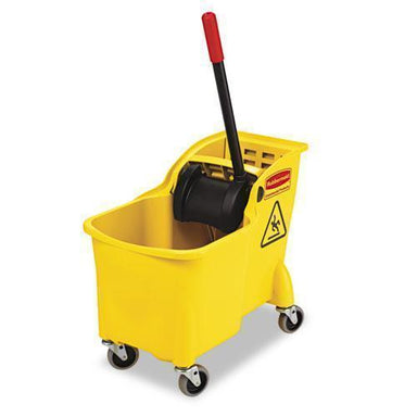 Rubbermaid Tandem 31qt Bucket-wringer Combo, Yellow-Rubbermaid® Commercial-Omni Supply