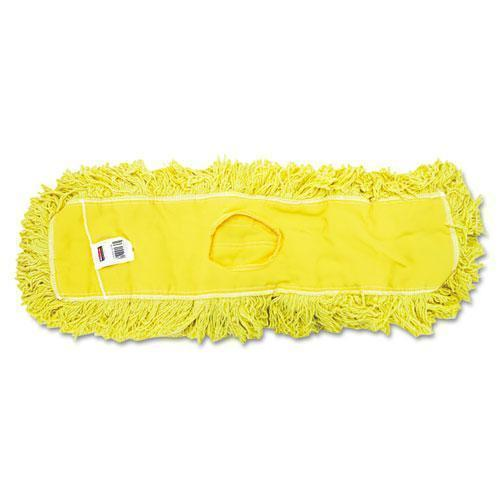 "Rubbermaid Trapper Commercial Dust Mop, Looped-End Launderable, 5"" X 24"", Yellow-Rubbermaid® Commercial-Omni Supply"