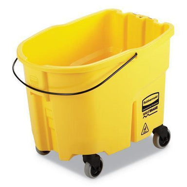 Rubbermaid WAVEBRAKE 2.0 BUCKET, 8.75 GAL, PLASTIC, YELLOW-Rubbermaid® Commercial-Omni Supply