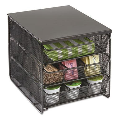 Safco 3 Drawer Hospitality Organizer, 7 Compartments, 11 1-2w X 8 1-4d X 8 1-4h, Bk-Safco®-Omni Supply