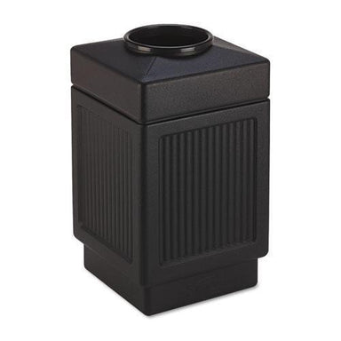Safco Canmeleon Top-Open Receptacle, Square, Polyethylene, 38gal, Textured Black-Safco®-Omni Supply